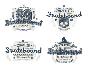 Skateboard emblems  for t-shirt