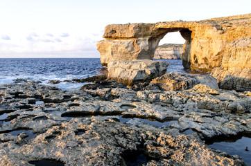 Azure Window in Dwejra , island Gozo, Malta