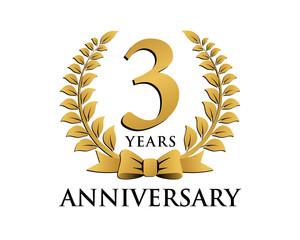 anniversary logo ribbon wreath 3