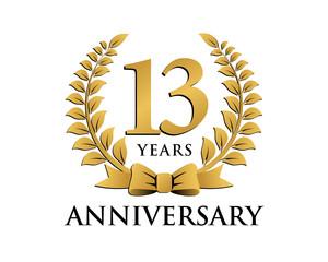anniversary logo ribbon wreath 13