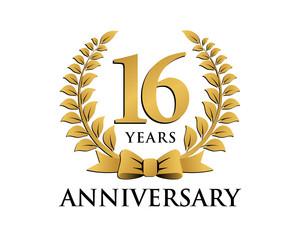 anniversary logo ribbon wreath 16