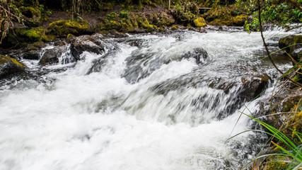 Water creek and stones in Papayacta, Ecuador