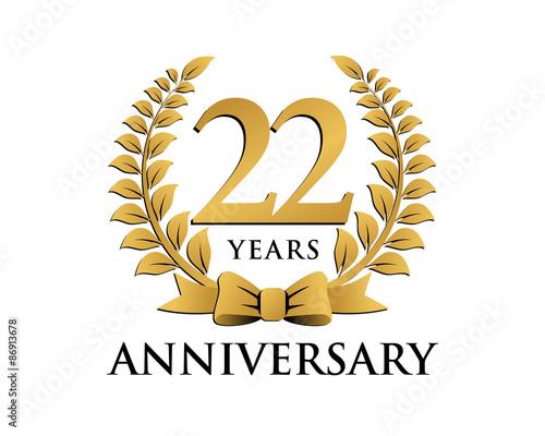 anniversary logo ribbon wreath 22 stock image and royalty free