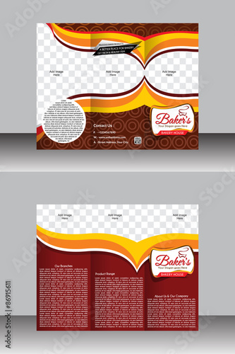 Tir Fold Bakery Brochure Template Design Stock Image And Royalty - Bakery brochure template free