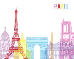 Wall Mural - Paris skyline pop