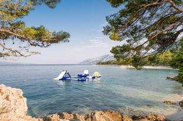 Adriatic sea in Brela, Croatia.