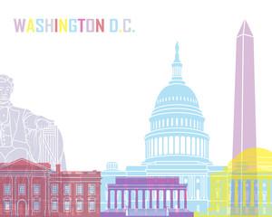Wall Mural - Washington DC skyline pop