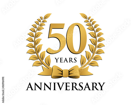 Anniversary logo ribbon wreath 50 stock image and royalty free anniversary logo ribbon wreath 50 altavistaventures Image collections