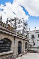 Basilica of the National Vow (Basilica del Voto Nacional), a Roman Catholic church, Quito, Ecuador.