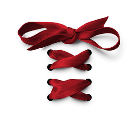 Red Shoe lace ribbon