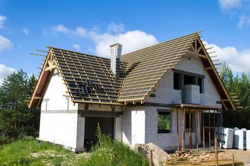 Obraz Nowy dom w budowie - fototapety do salonu