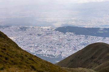 Mountain hills of Ecuador