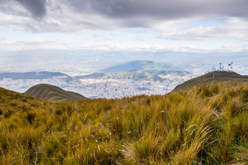 Mountain hills of Ecuador