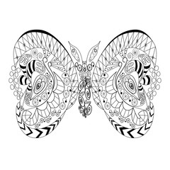 Stencil butterfly graphic in black. Vector Illustrator