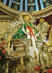 Imagen de la Virgen de la Cabeza, Andújar, provincia de Jaén, España