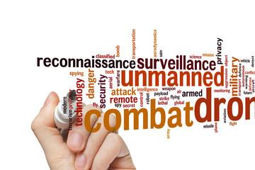 Combat drone word cloud