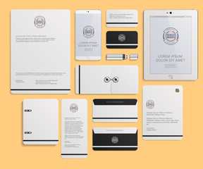 Modern Corporate Identity Template Design with Logotype