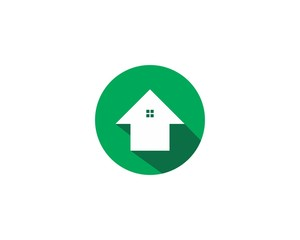 Flat House Logo