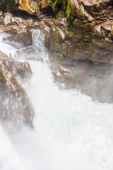 Waterfall in Cascades route, Banos, Ecuador