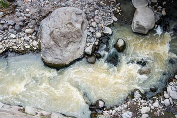Stones and river in Ecuador