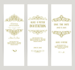 templates with banners vintage design elements