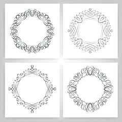 round calligraphic frame, monogram