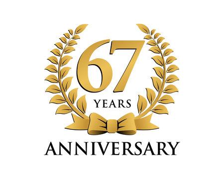 anniversary logo ribbon wreath 67