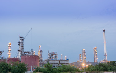 Oil petrochemical industrial plant