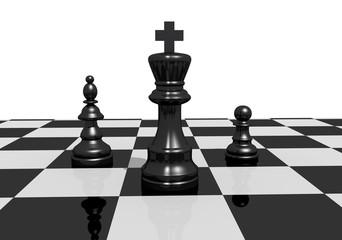 Schachspiel König hell
