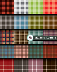 plaid seamless pattern, pattern swatches included for illustrator