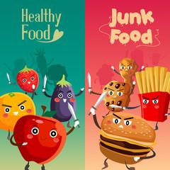 Healthy Food Versus Unhealthy Food