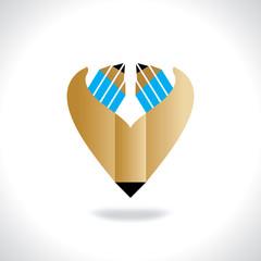 creative pencil idea concept vector