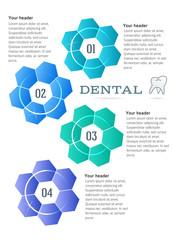 brochure template concept techno flower Dental