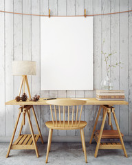 poster frame template, workspace mock up