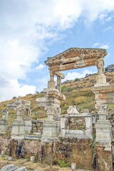 The site and ruins of Ephesus.