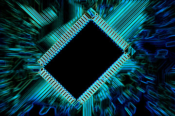Circuit board abstract.