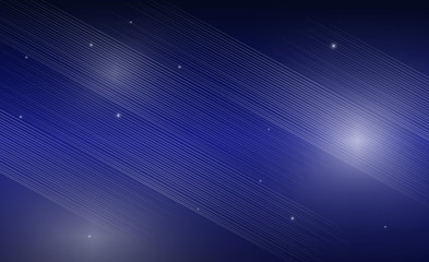 Lines black and blue with stars abstract background
