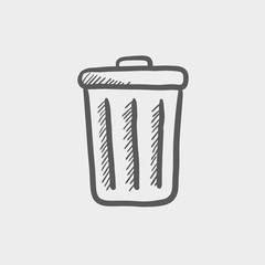 Trash can sketch icon