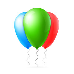 Abstract creative concept vector flight balloon with ribbon. For