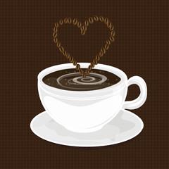 Kaffee mit Bohnenherz