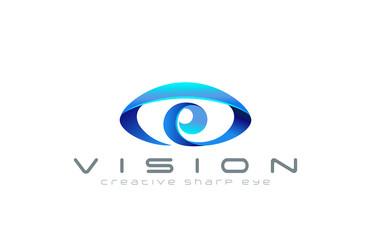 Eye Logo abstract design vector template...Creative vision logot