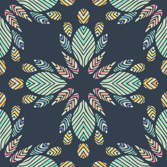 Seamless colorful background made of exotic pattern