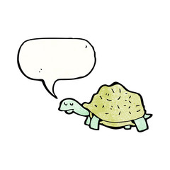 cartoon tortoise with speech bubble