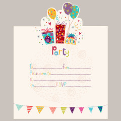 Search photos birthday invitation happy birthday invitationrthday greeting card with gifts and balloons filmwisefo