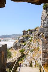 Photo sur Aluminium Rock cut tombs of the ancient Lycian necropolis, Myra, Turkey