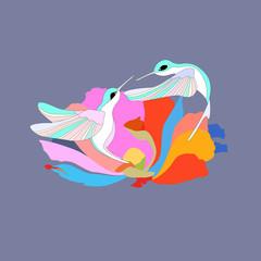 Hummingbird,, logo