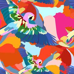 Parrot, seamless wallpaper