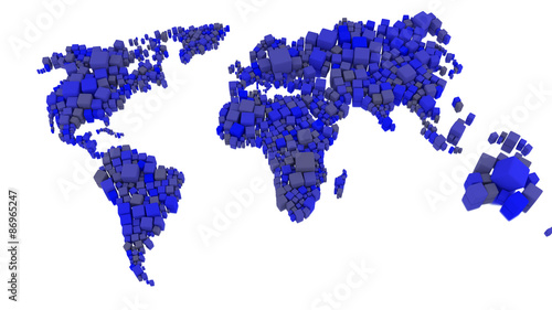 Cube World Map.Abstract 3d Cube World Map Stock Photo And Royalty Free Images On