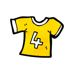 cartoon sports shirt with number four