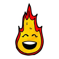 flame cartoon character
